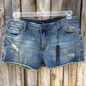STS Blue Mid Rise Distressed Denim Shorts NWT 31